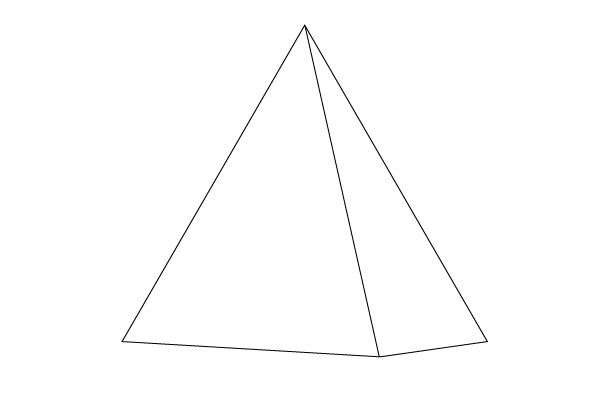 Drawn pyramid Outline Image How Steps Step