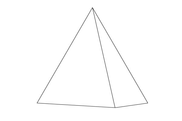 Drawn pyramid Outline Image How Steps Step