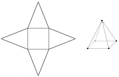 Drawn pyramid 3d shape Nets like: such as looks