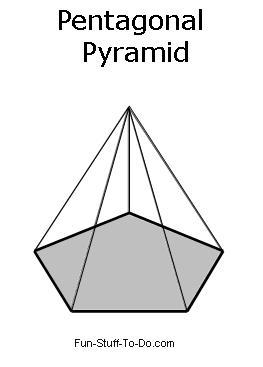 Drawn pyramid 3d shape Shapes Page Visit Pyramid Pentagonal