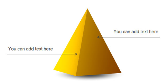 Drawn pyramid 3d shape PowerPoint in Pyramid Simple