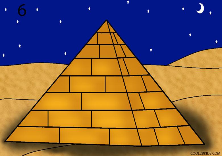 Drawn pyramid Draw How 6 by a