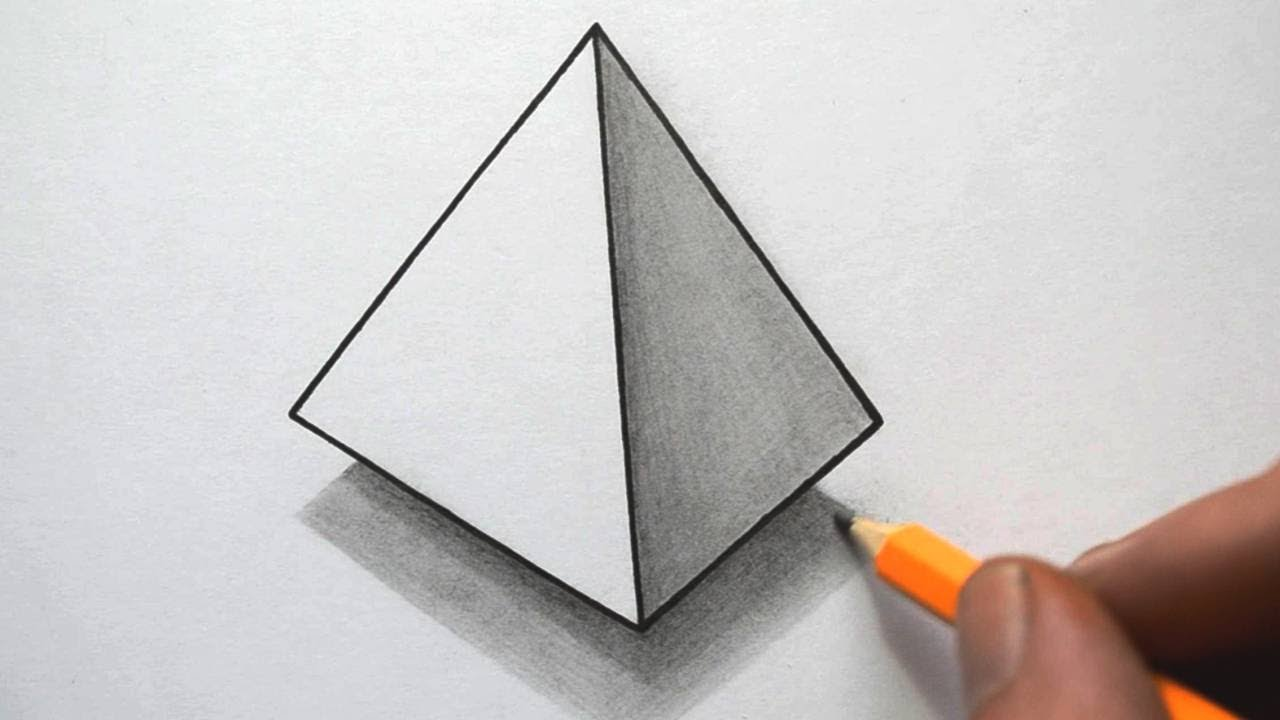 Drawn pyramid Draw How to a How