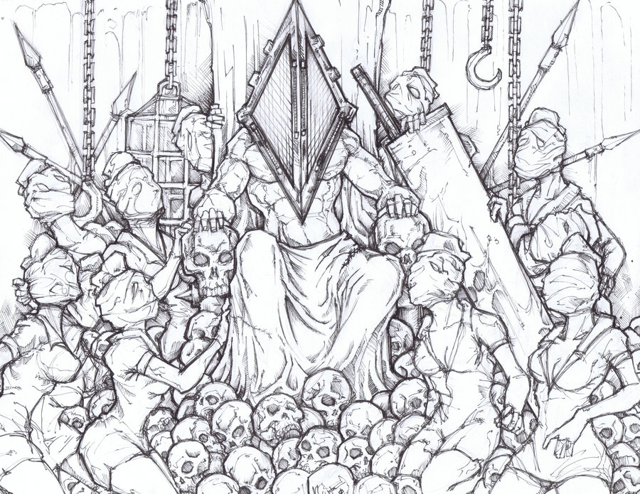 Drawn pyramid art And ChrisOzFulton Head Silent Hill
