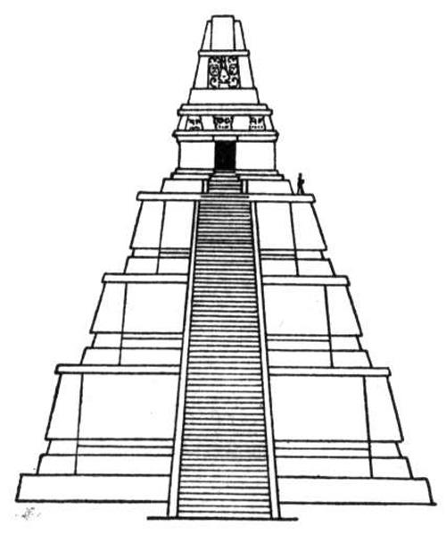 Drawn pyramid aztec pyramid Aztec pyramids Hdimagelib Pyramid Drawing