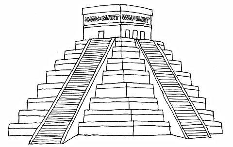 Drawn pyramid aztec pyramid  Children Pyramid Coloring Page