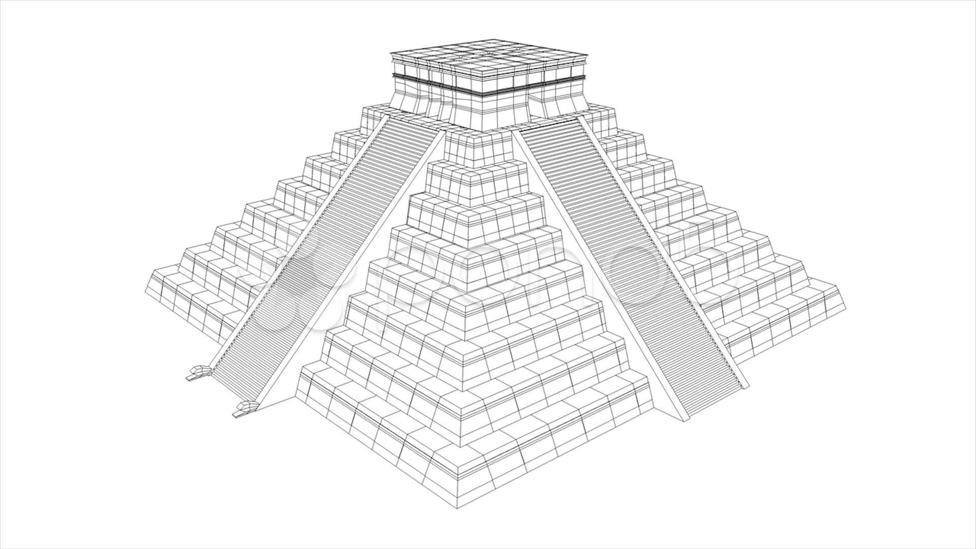 Drawn pyramid aztec pyramid How Aztec Pyramid to Draw
