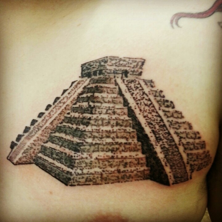 Drawn pyramid aztec pyramid Images Mayan to Still on