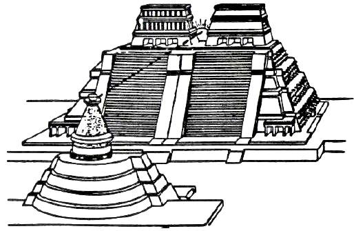 Drawn pyramid aztec pyramid Www Drawing Aztec bibliotecapleyades net