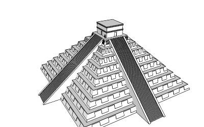 Drawn pyramid aztec pyramid Aztec Illustrations and pyramid Clip