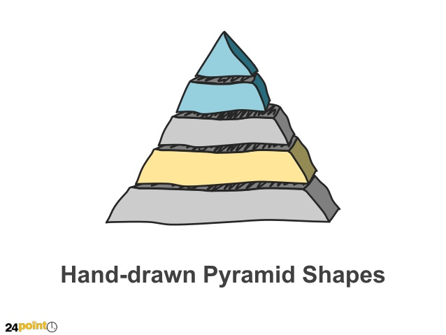 Drawn pyramid based 2 text Insert Shapes Hand