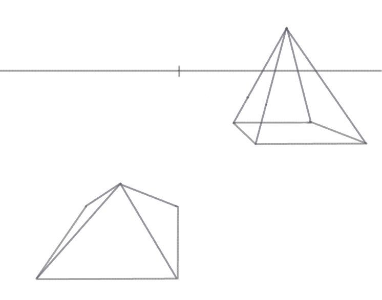 Drawn pyramid basic Pyramid Draw Pyramid Perspective in