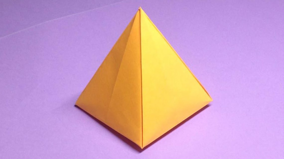 Drawn pyramid beginner Pyramids Origami Paper For A