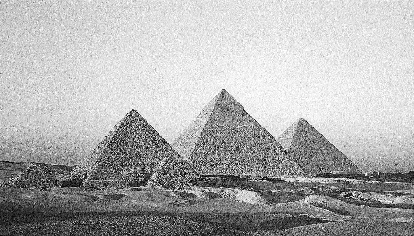 Drawn pyramid black and white Blog In Sacred Geometry World