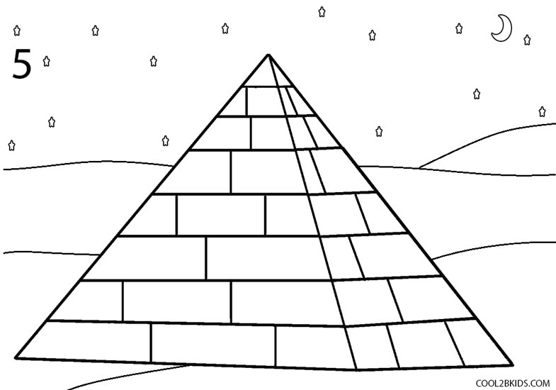 Drawn pyramid black and white Step 5 Pictures) How to