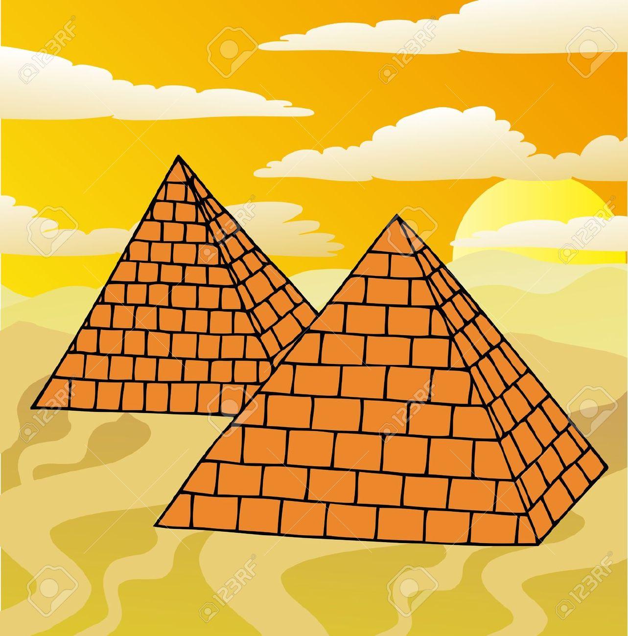 Drawn pyramid cartoon Pyramid Art – Download Clipart