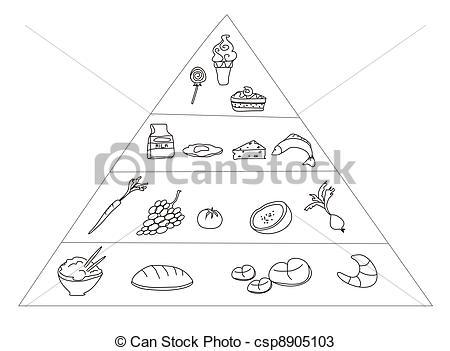 Drawn pyramid clipart Of Pyramid Search csp8905103 Food