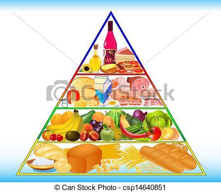 Drawn pyramid clipart Vector pyramid healthy of of