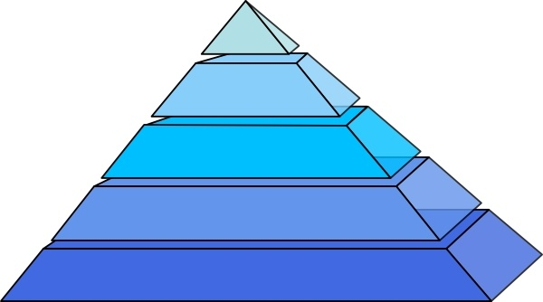 Drawn pyramid clipart  vector ( in office