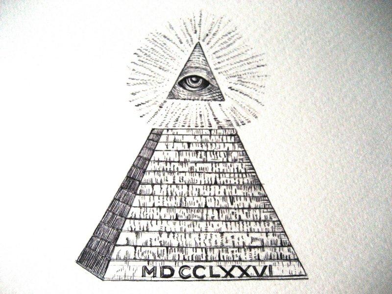"""Drawn pyramid dollar bill pyramid Of Profound """" Signs Currency"""