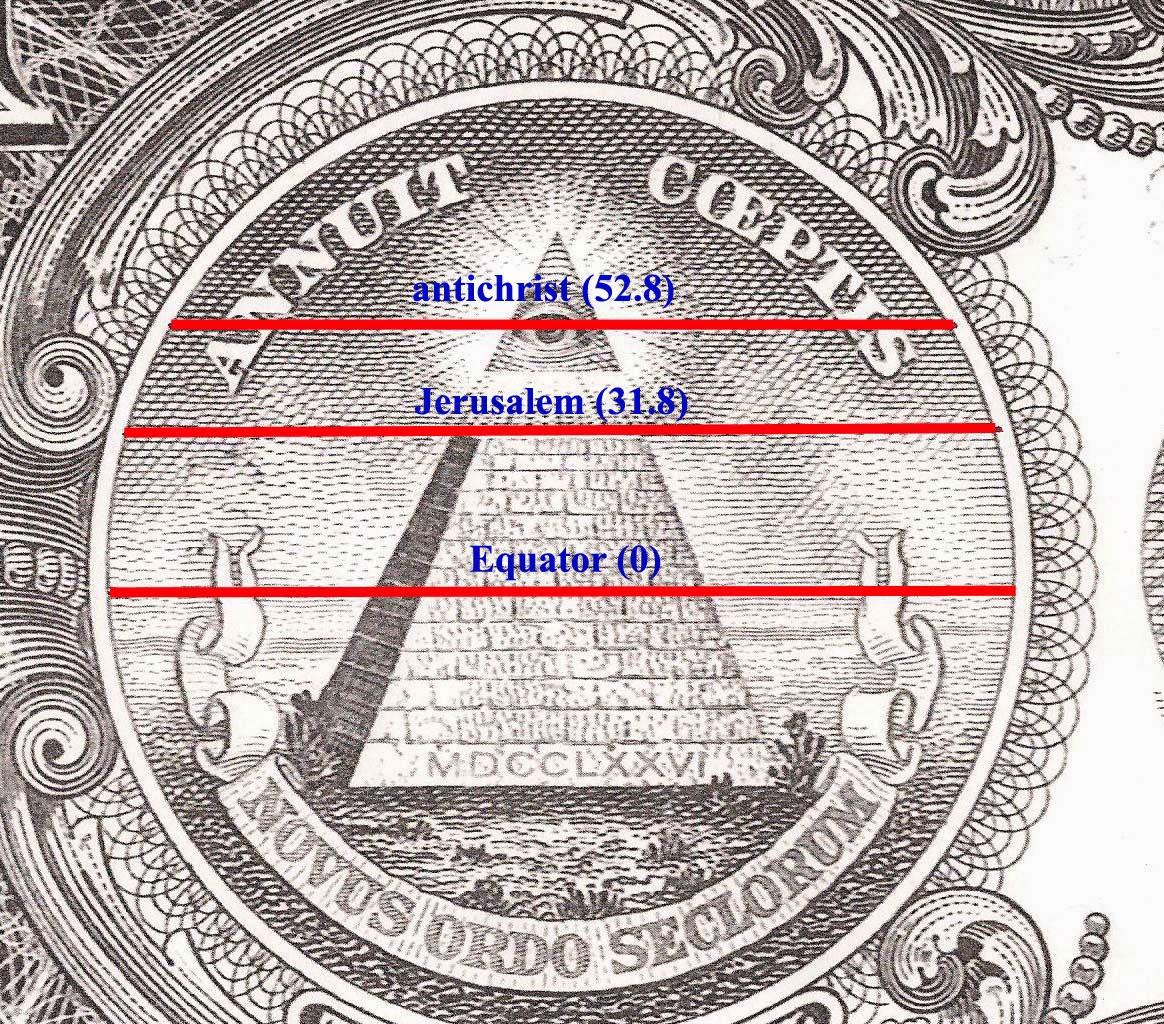 Drawn pyramid dollar bill pyramid The on Seal in from