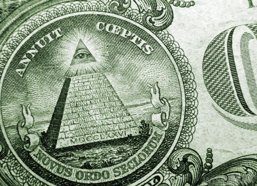 Drawn pyramid dollar bill pyramid Symbols do a of US