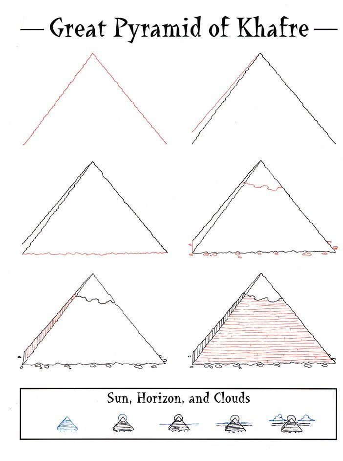 Drawn pyramid easy On best Pyramids Egypt Waldorf