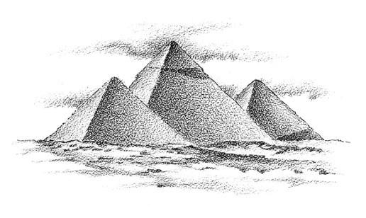 Drawn pyramid egyptian architecture Randal Egypt Birkey Great Great