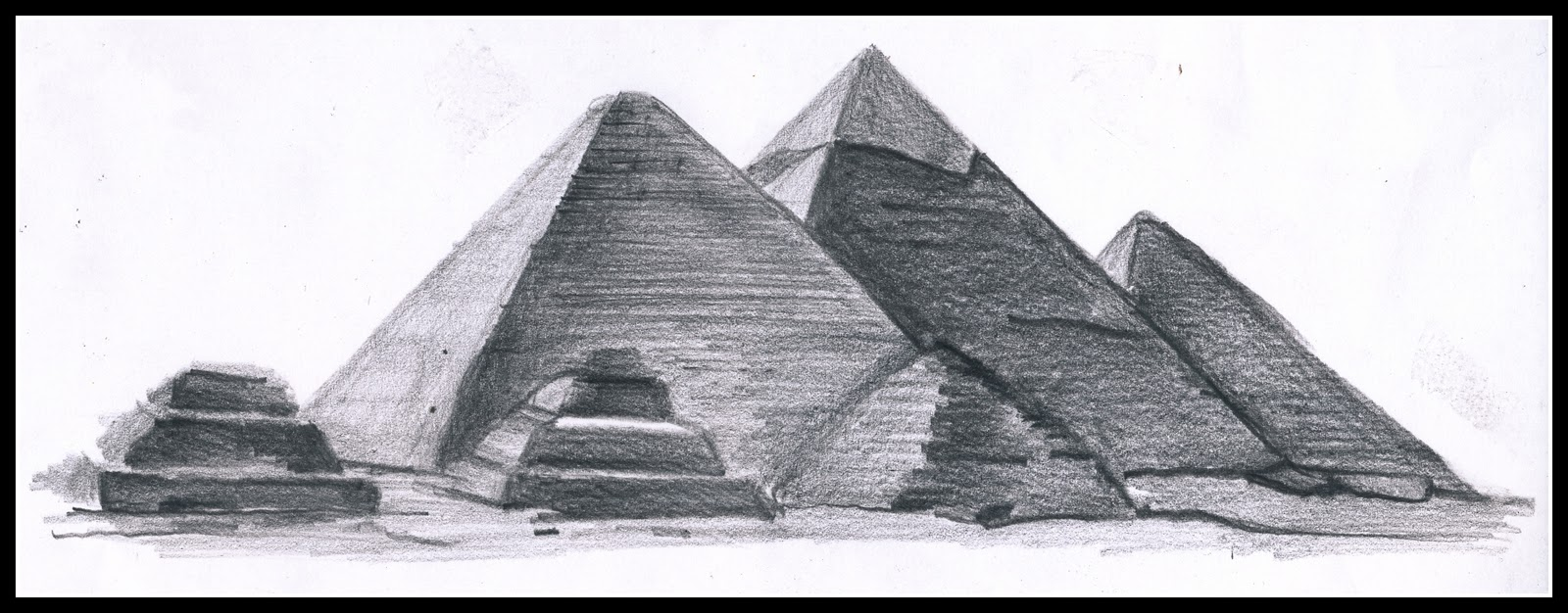 Drawn pyramid egyptian architecture Egyptian On senza Vivere rimpianti