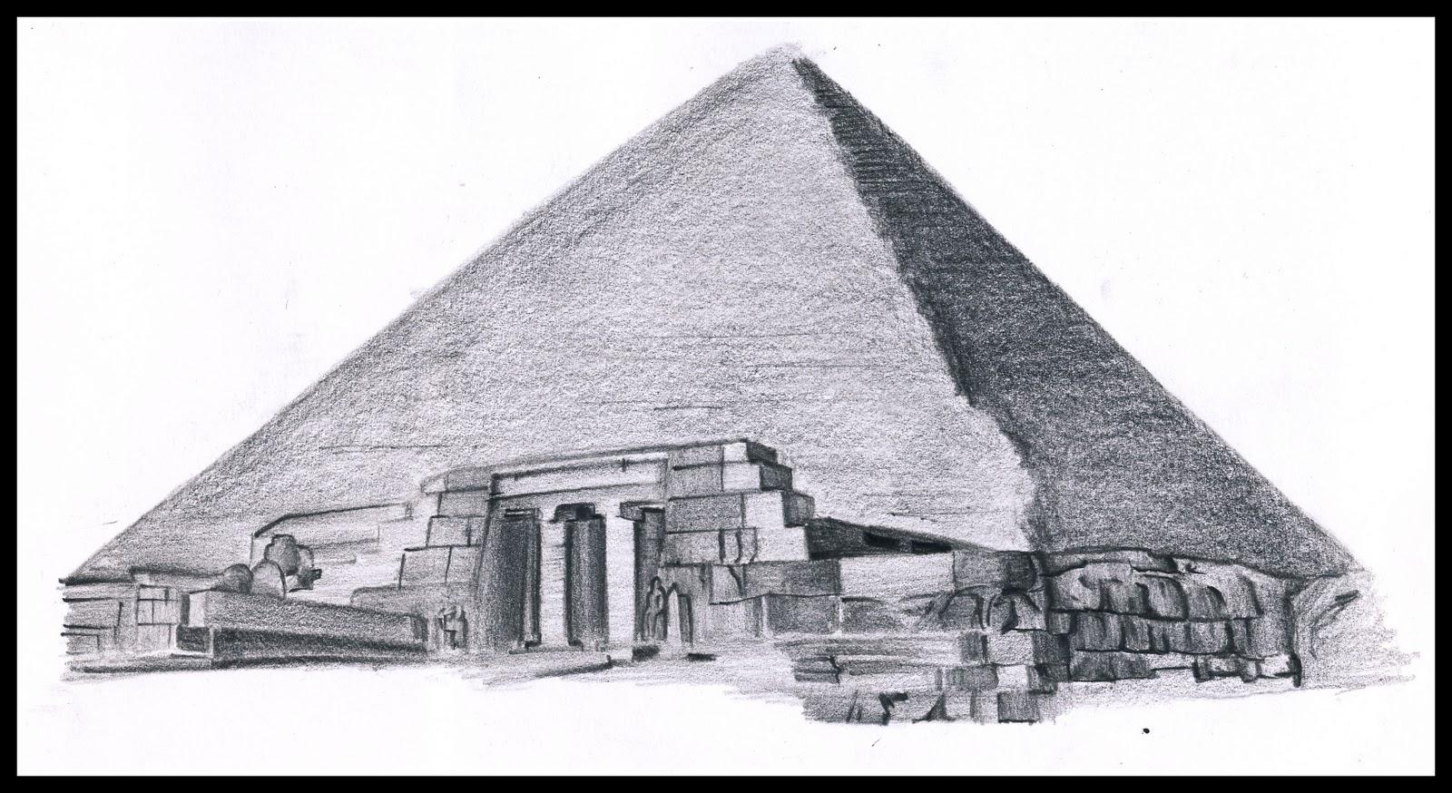 Drawn pyramid egyptian architecture : Architecture AHSTARC :) TOMORROW