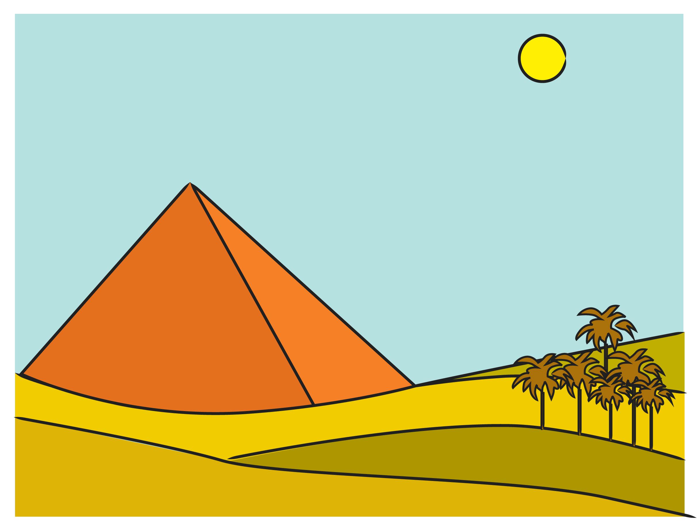 Drawn pyramid egyptian pyramid Draw Egyptian  Pyramids the