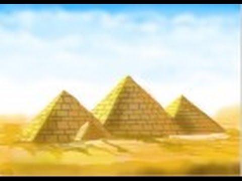 Drawn pyramid egyptian pyramid How draw YouTube Egyptian