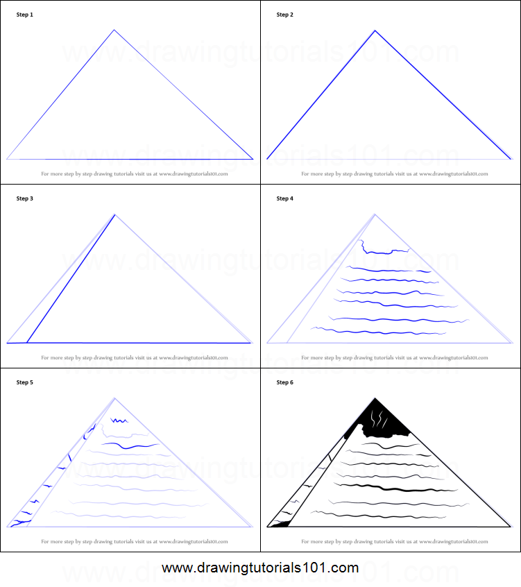 Drawn pyramid egyptian pyramid To for Draw printable of