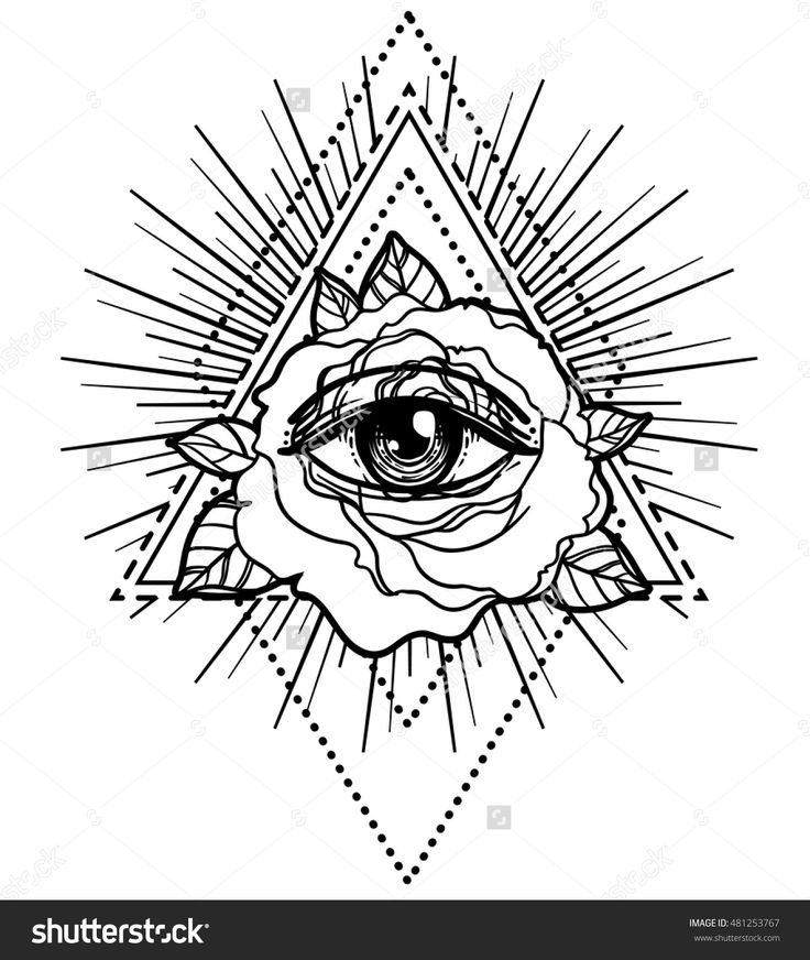 Drawn pyramid eye drawing Symbol flash Pinterest ideas flower