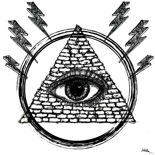 Drawn pyramid eye drawing Lightning best Pinterest #lakota Illumati