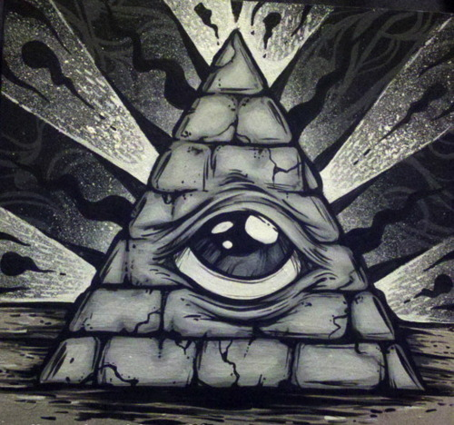 Drawn pyramid eye drawing In Pyramid a drawing ThoughtCo