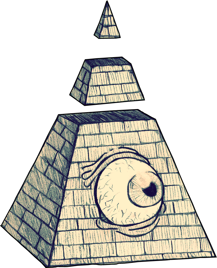 Drawn pyramid eye drawing Pyramid drawing to eye a