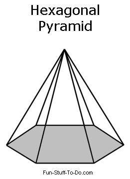 Drawn pyramid hexagon  Printable Shapes
