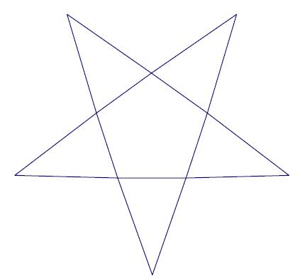 Drawn pyramid hexagon The triangles Net the consists