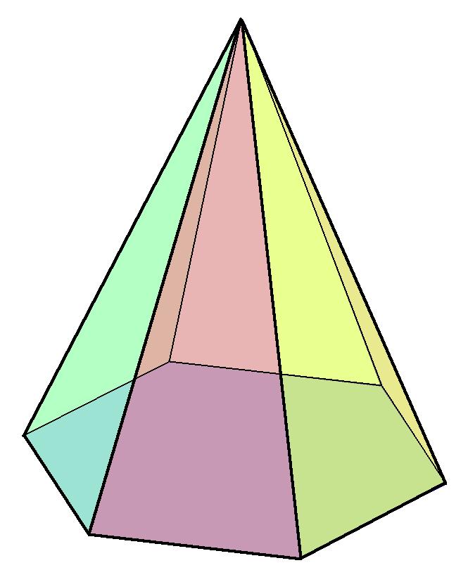 Drawn pyramid hexagon  Wikipedia Hexagonal pyramid
