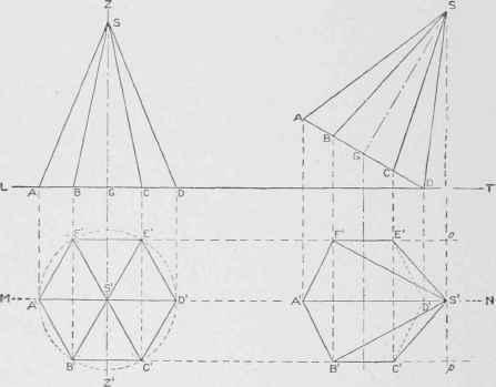 Drawn pyramid hexagon Construction Hexagonal of Of Objects