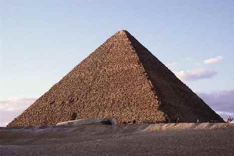 Drawn pyramid impossible Made of granite limestone The