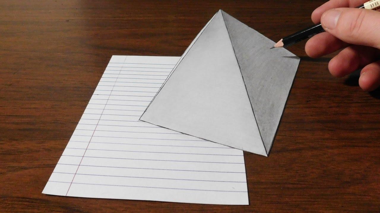 Drawn pyramid jonathan harris Art Illusion Drawing Harris Optical