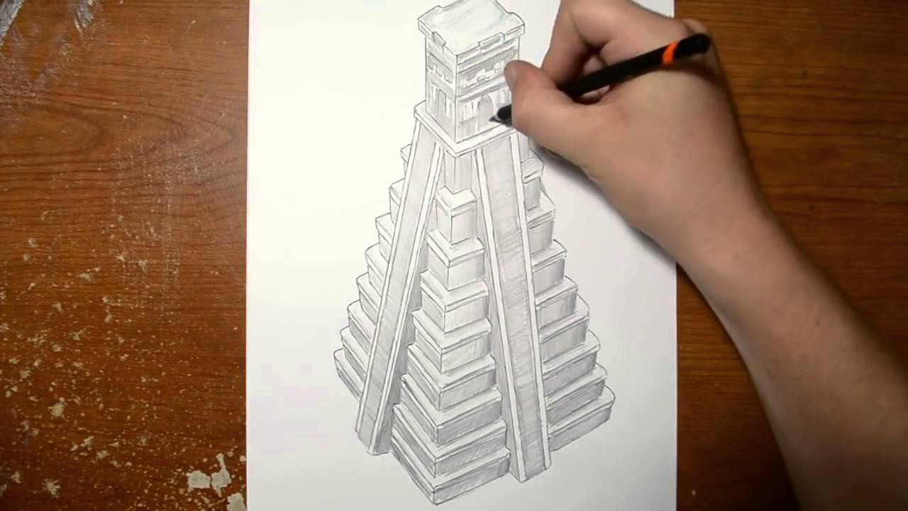 Drawn pyramid jonathan harris A Drawing YouTube Harris Illusion