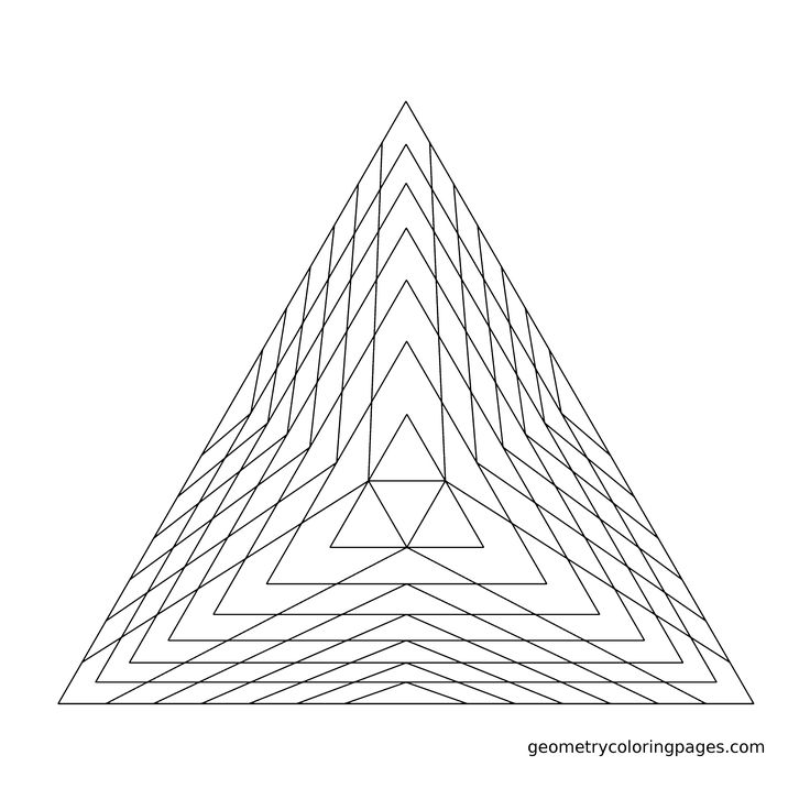 Drawn pyramid mathematical Coloring Pyramid Pinterest Geometry best