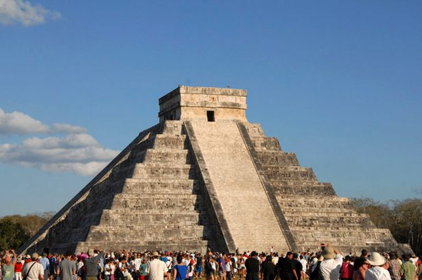 Drawn pyramid maya temple Of pyramid Mexican in in