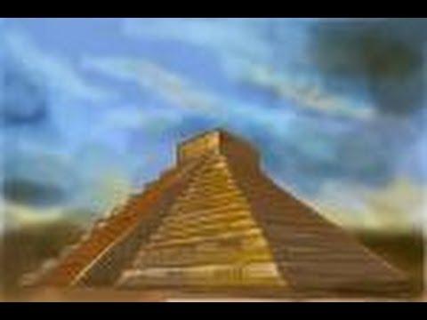 Drawn pyramid maya temple Mayan draw the How How