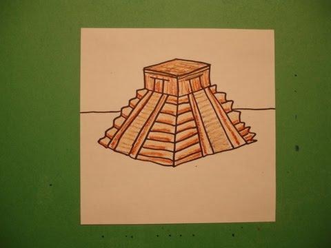 Drawn pyramid maya temple An  YouTube Temple Draw