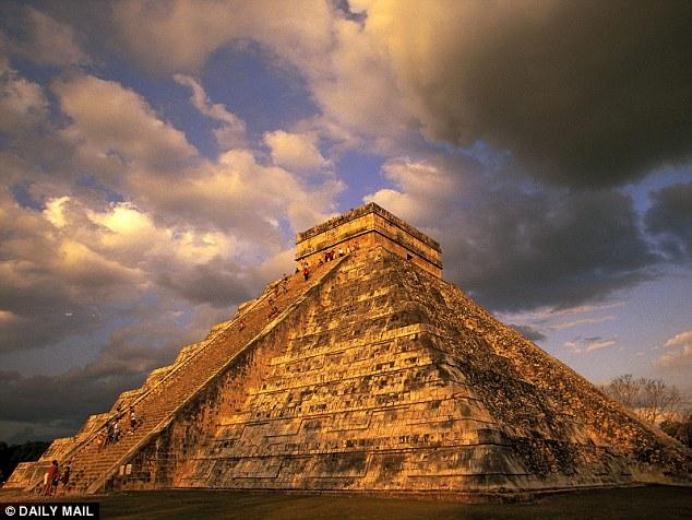 Drawn pyramid maya temple 000 1 around by was