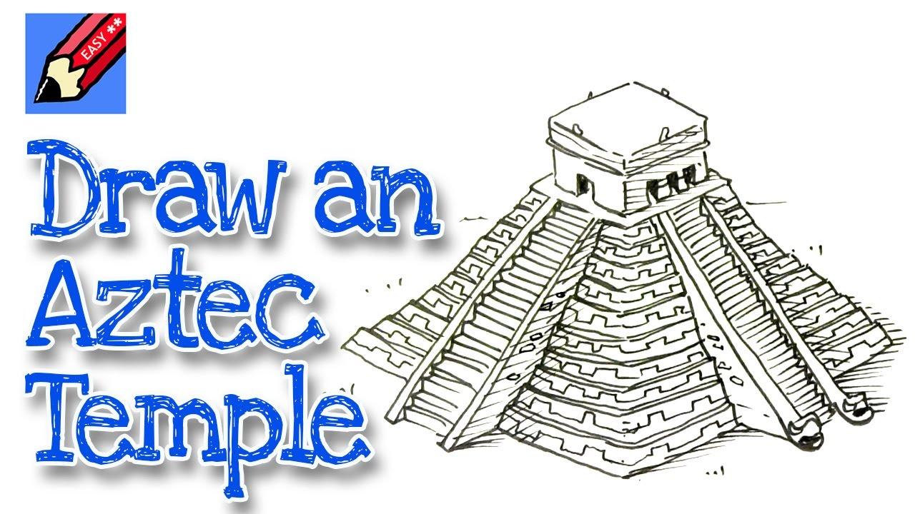 Drawn pyramid mayan temple Easy for Real to kids